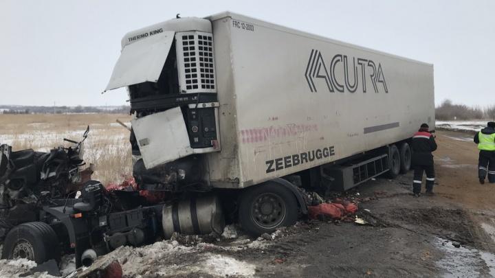 Кабину разворотило: появились подробности столкновения двух грузовиков в Нефтегорском районе