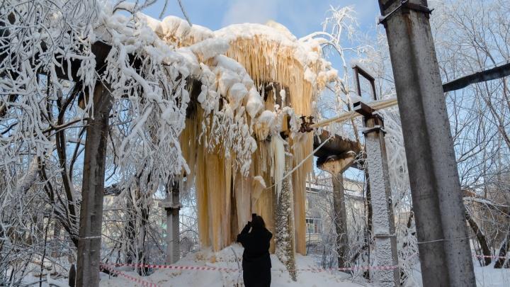 Похоже на ядерный взрыв: как на Сульфате появился ледяной гриб и чем он опасен