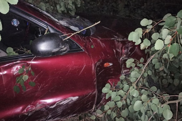 Дорожные инспекторы выясняют причины и обстоятельства этой ночной аварии