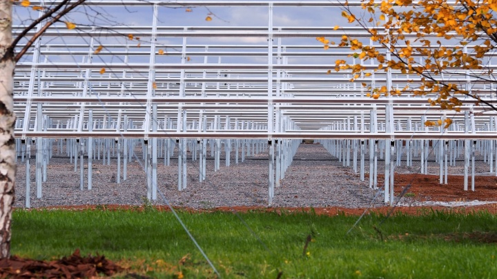 Ближе к солнцу: «ПОЛИЭФ» завершил монтаж опор для солнечной электростанции