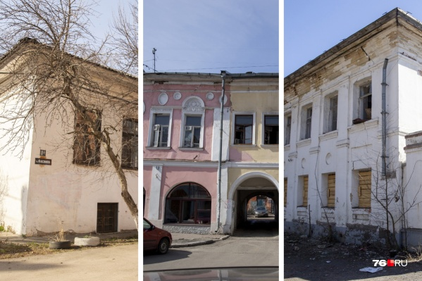 Многие здания являются памятниками, которые находятся в плачевном состоянии