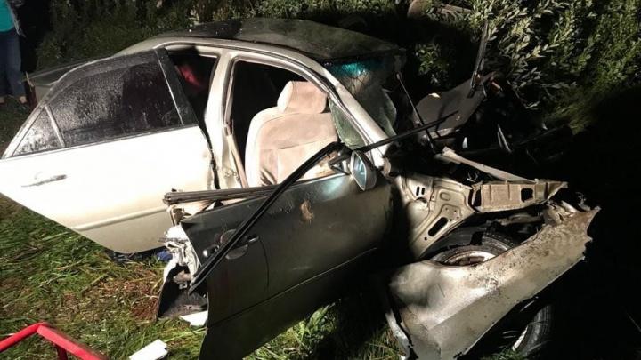 Семь человек в салоне, двое погибли: в Омской области легковушка столкнулась с фурой