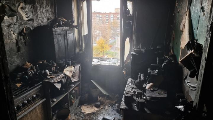 Появились фото изнутри сгоревших квартир на Ново-Садовой