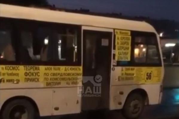 Конфликт произошел в автобусе 56-го маршрута