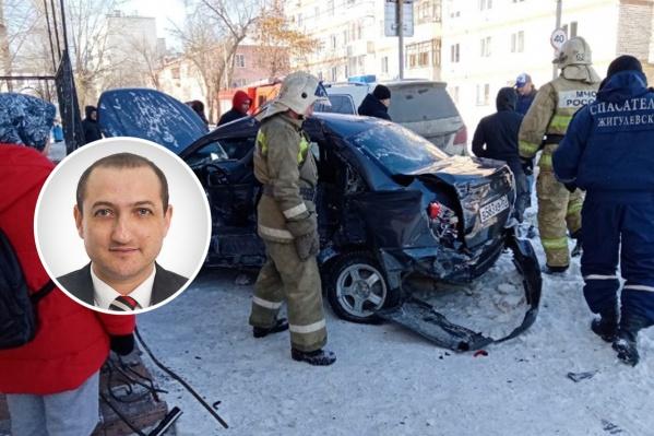 Егише Амроян стал одним из участников аварии
