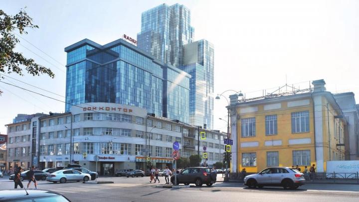 В самый центр Екатеринбурга втиснут гигантскую гостиницу с крошечными номерами. Показываем рендеры
