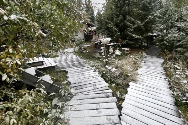 Снег начался утром