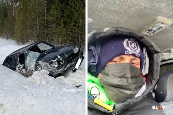 Молодой человек попал в аварию на трассе Ханты-Мансийск — Югорск