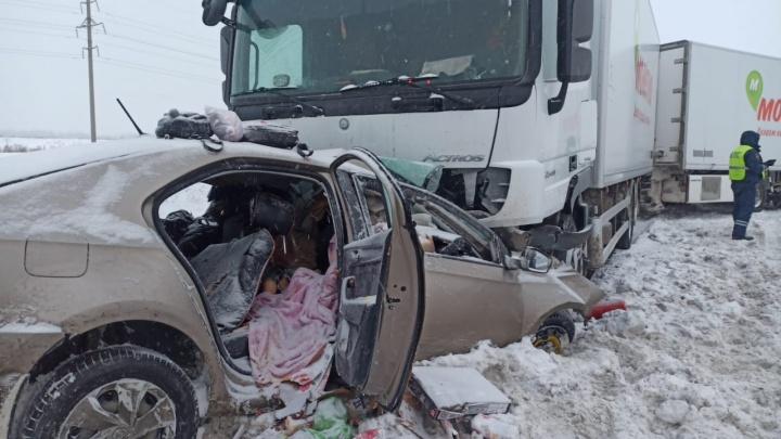 Под Уфой в ДТП погибла семья с детьми из Самары: фото