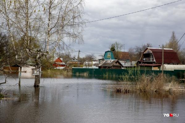 В Ярославской области затопило прибрежные территории