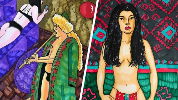 Художница из Уфы, которая нарисовала обнаженных башкир: история скандала за три минуты