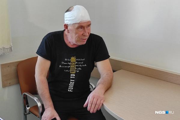 Николай Берестов впервые заметил небольшую шишку на лбу в августе 2020 года — она быстро выросла