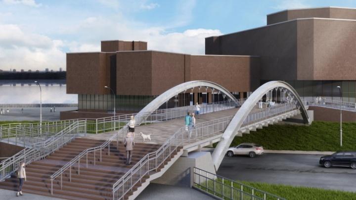 Пешеходный мост у БКЗ начали строить с нарушениями: рядом стоит памятник архитектуры