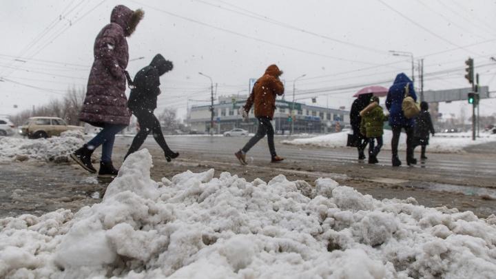 Пока вы спали: Волгоград накрыло второй волной аномального мартовского снегопада