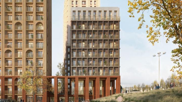 На Немировича-Данченко строят ЖК c аркой и сводами на окнах: там уже начали покупать квартиры