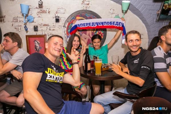 Так болели за Россию в Красноярске во время чемпионата мира по футболу