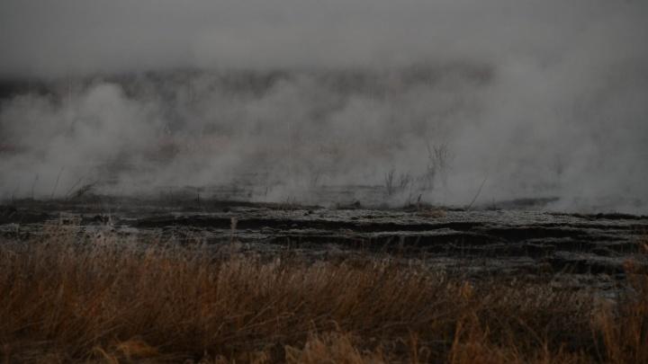 Дым от горящих торфяников Екатеринбурга дошел до ХМАО