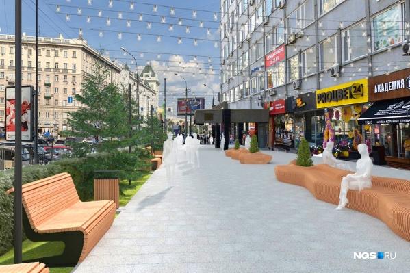 Этим летом возле бизнес-центра на Вокзальной магистрали, 16 обещают начать масштабный ремонт пешеходной зоны