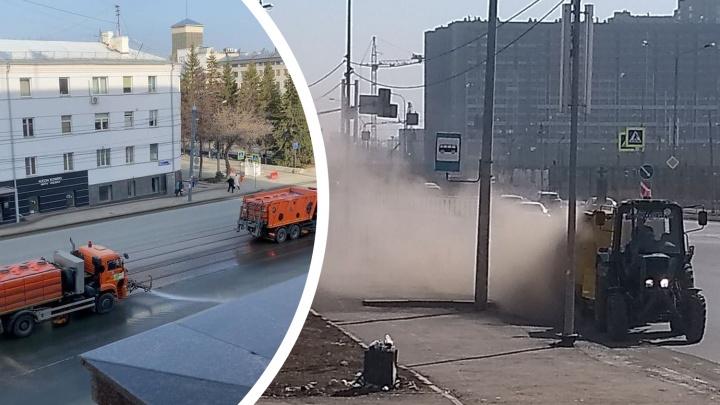 Пыль в глаза. Смотрим, как началась генеральная уборка Челябинска под окнами Текслера и в других местах