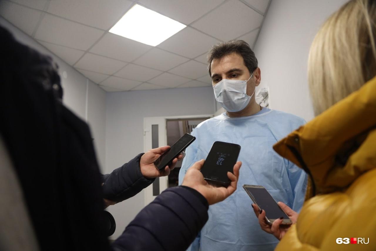 Министр пообщался с журналистами в стенах Сызранской ЦГБ