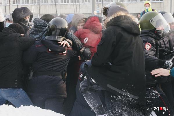 Вот тот самый момент задержания Александра Леванова