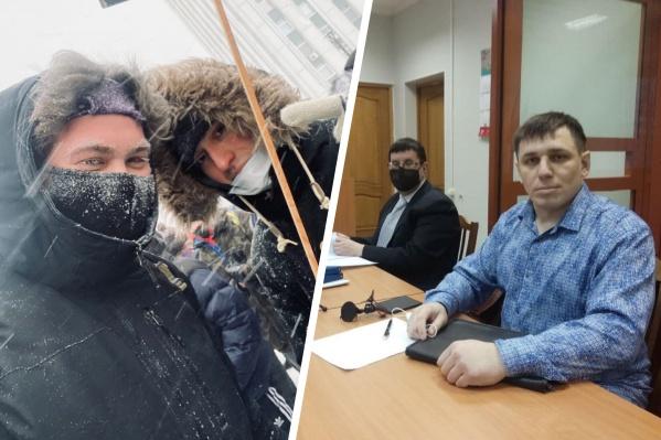 """Романа (слева) задержали накануне, а Андрея — еще <nobr class=""""_"""">22 января</nobr>"""
