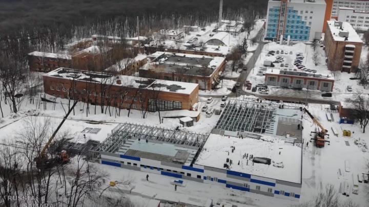 Показалась крыша: посмотрите, как продвинулось строительство COVID-госпиталя в Самаре