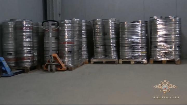 В Волгограде полицейские изъяли 52 тонны контрафактного пива