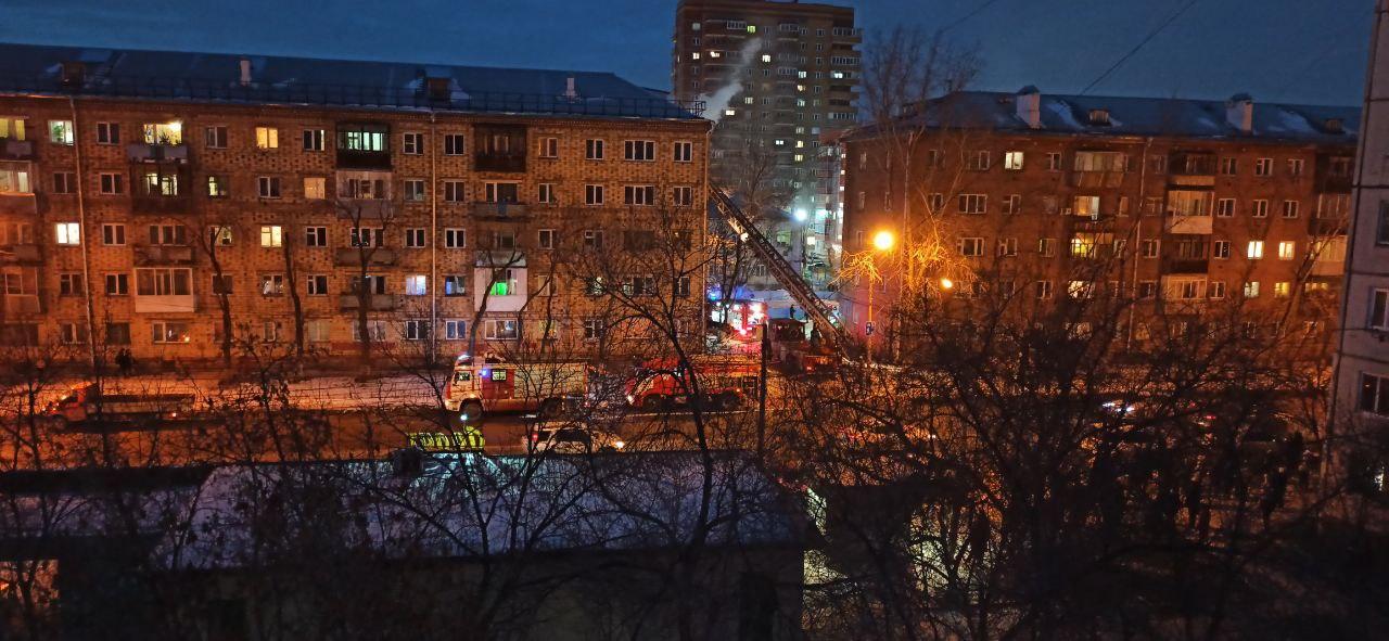 Пожар произошел в квартире на 4 этаже