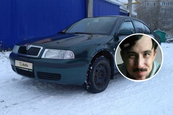 Мужчина уехал на темно-зеленойSkoda Octavia