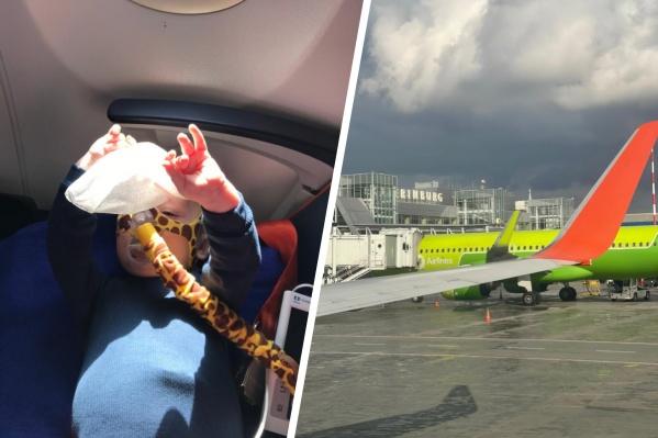 По рекомендации врача во время полета Миша был с аппаратом неинвазивной вентиляции легких. Обычно он обходится без него