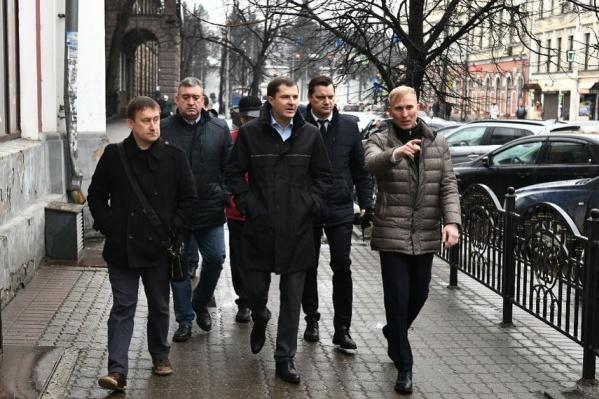 Ярославские чиновники прошлись все вместе по Комсомольской
