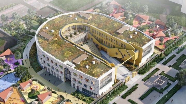 Для нового района Екатеринбурга придумали детсад с террасой на крыше