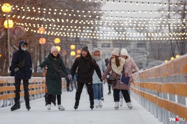 Если погода позволит, кататься на коньках по парку можно будет уже в начале ноября