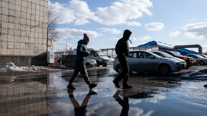 Когда в Тюмени растает снег и будет 20градусов тепла? Прогноз на весь апрель