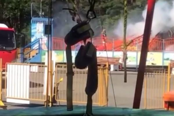 На момент возгорания в Парке Гагарина было не так много посетителей