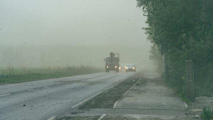 Перед похолоданием на Омскую область обрушатся штормовой ветер и град