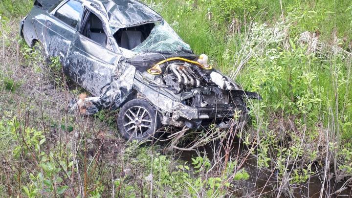 До соседней деревни не доехали: на Урале по вине 18-летних водителей случились две аварии