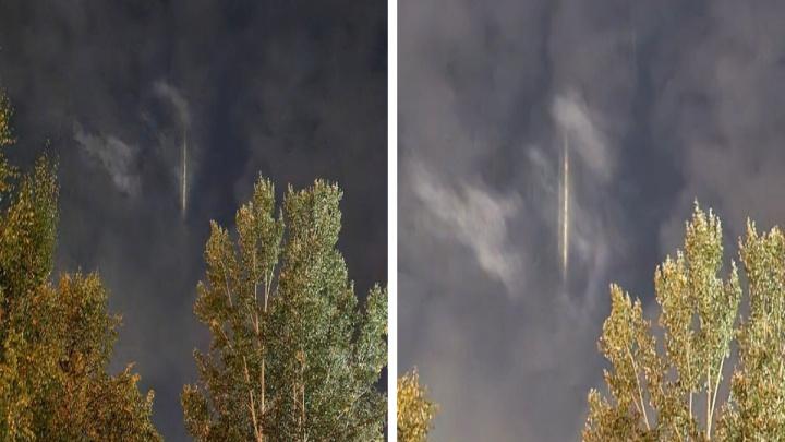 Новосибирцы увидели в небе над городом странное оптическое явление