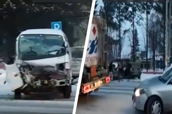 Авария произошла в 09:40