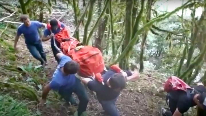 В Абхазии погиб российский турист, который сорвался с водопада