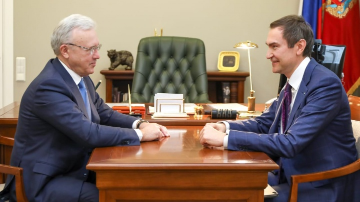 Александр Ведяхин провёл рабочую встречу с губернатором Красноярского края