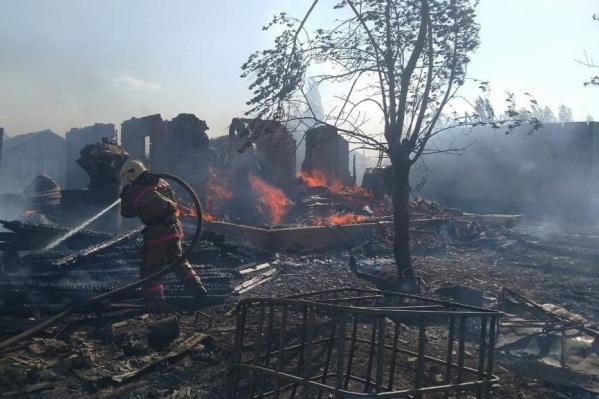 Площадь пожара составила 650 квадратных метров