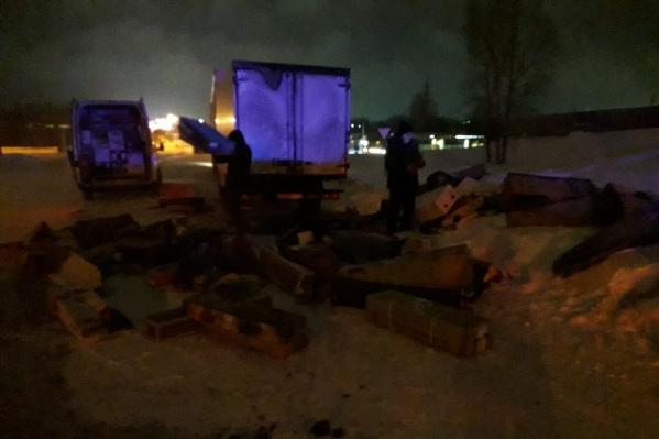 По словам свидетелей, груз «Газели» почти не пострадал
