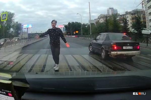 Парень уехал с места аварии