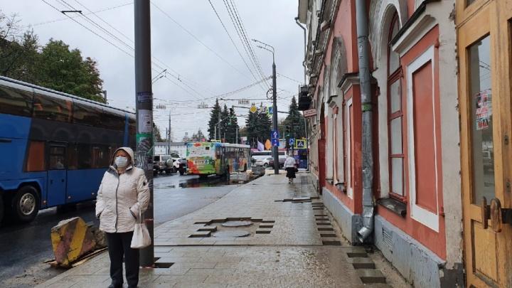 На этом месте ее не было: в центре Ярославля поставят новую остановку