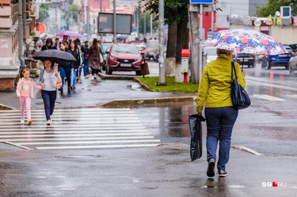 30 июля в Пермском крае ожидаются дожди