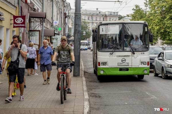 В Ярославле увеличилось количество больших автобусов, но в целом единиц транспорта стало меньше