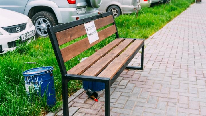 Полицейские приостановили уголовное дело о краже двух скамеек с озера Кирпичка