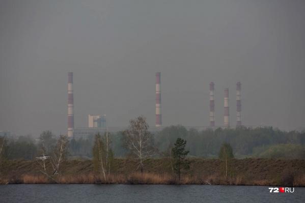 Вид на ТЭЦ-1 сегодня, 9 мая